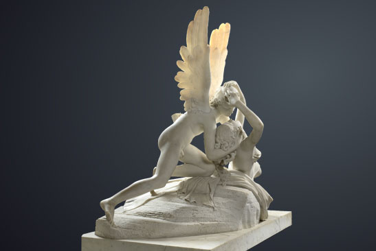 Psyche and eros sculpture